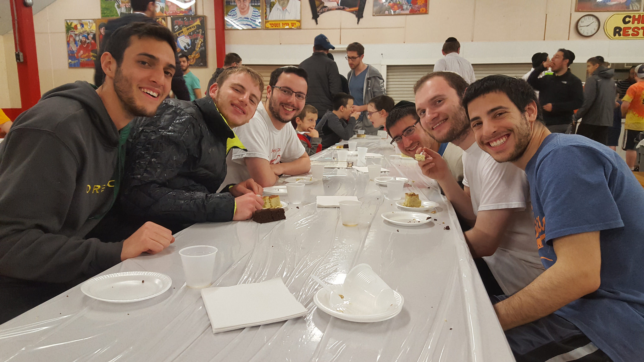 Students at LCM smile during LCM's annual Shabbaton.