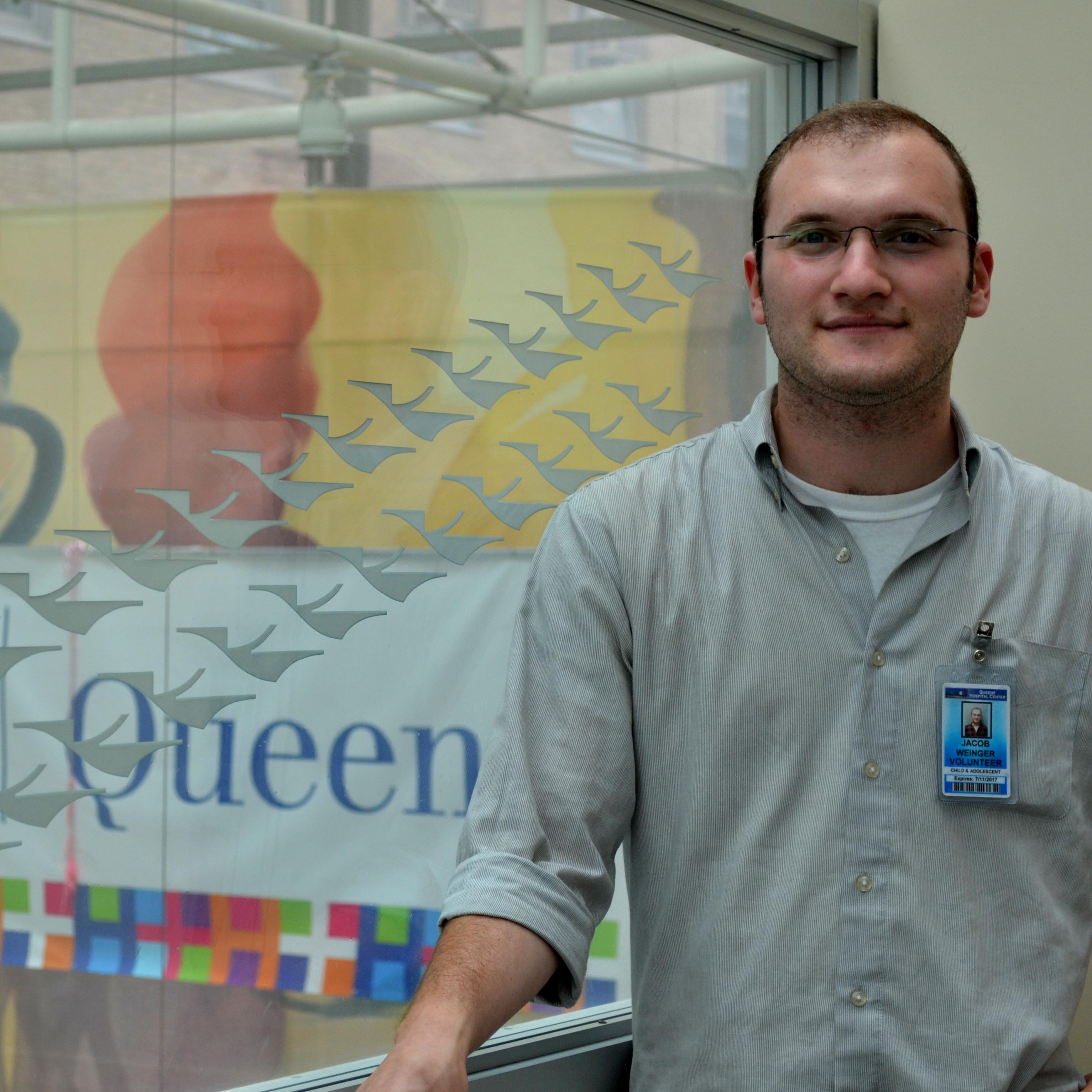 Jacob (Moshe) Weinger at his summer internship at Queens Hospital Center, Department of Child and Adolescent Psychiatry
