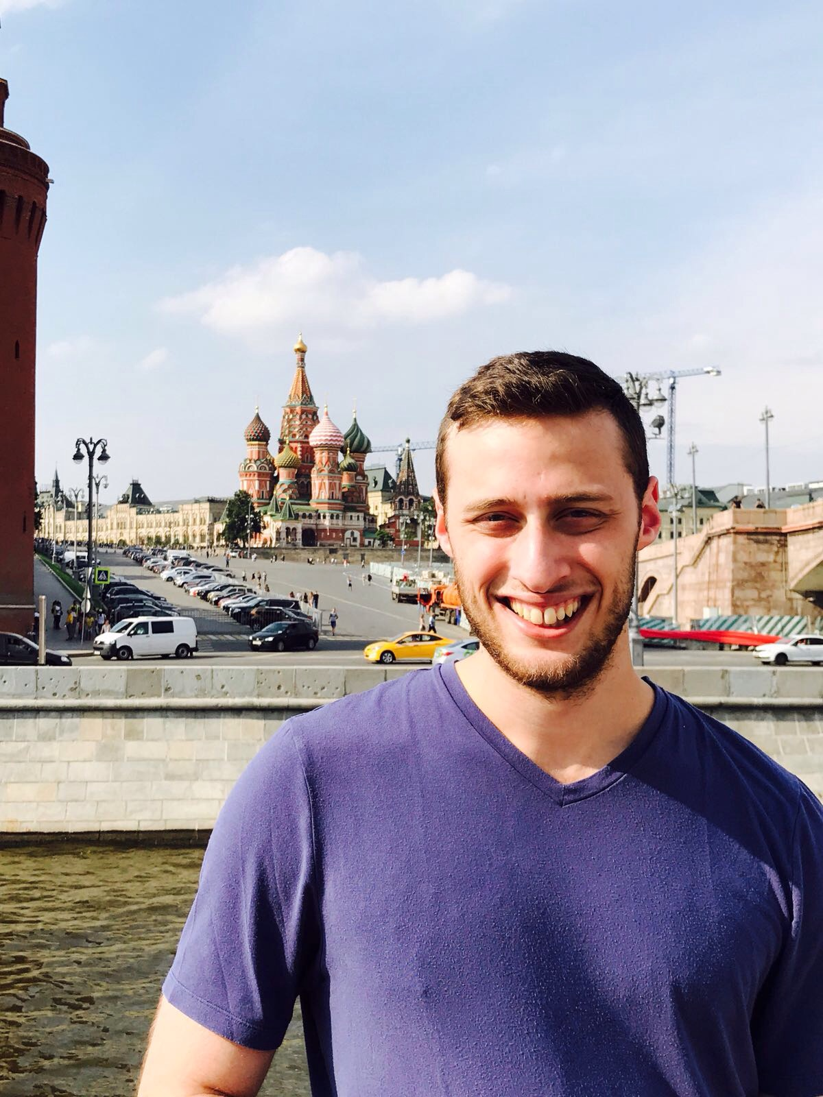 Andrew Weinberger researched Parkinson\'s Disease and traveled to Moscow with Touro.