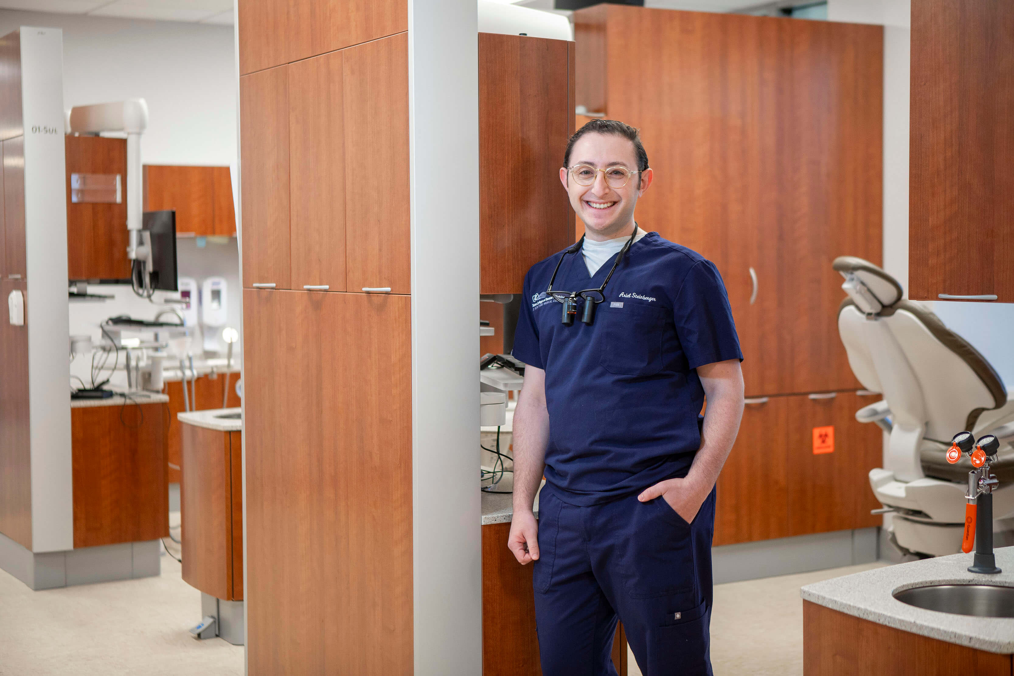 Ariel Steinberger, an alum of Lander College for Men and a fourth year student at Touro College of Dental Medicine.